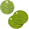 Sequins Hologram 40mm 4mm Hole Round Lime Green
